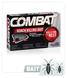 Combat® for Small + Large Roaches